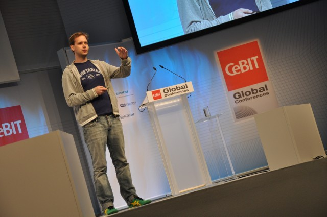 Peter Sunde, seen here speaking at a conference in Germany in 2011.