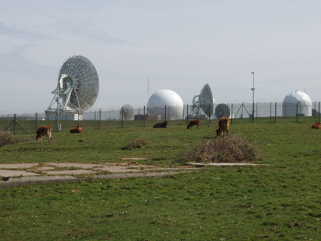 The GCHQ Bude signals intelligence collection station in Cornwall, where data is siphoned from undersea cable taps around the world, according to NSA documents revealed by Edward Snowden.