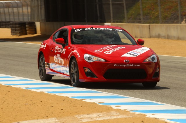 Toyota held an earlier Onramp event at Mazda Raceway Laguna Seca in Monterey, California, earlier this year.