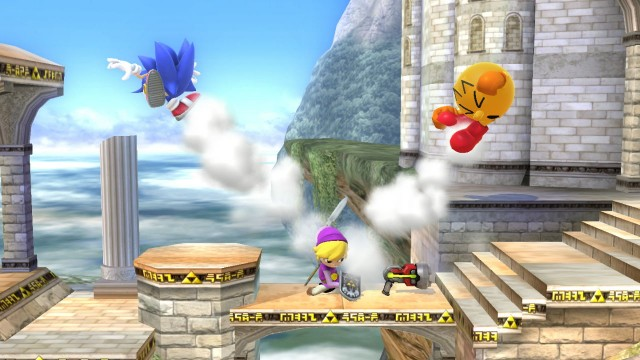 In <em>Smash 4</em>, new characters fit right in with returning characters like Toon Link and Sonic.