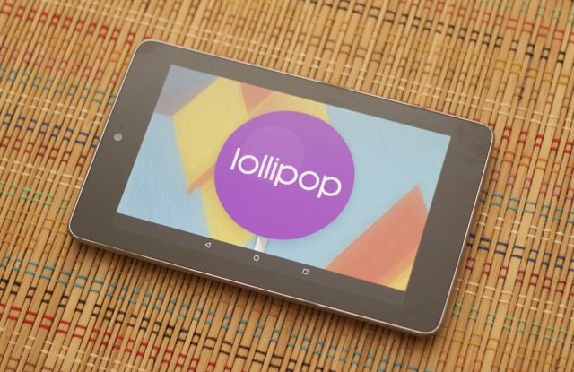 The 2012 Nexus 7's Lollipop update neither helps nor harms.