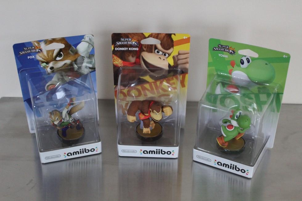 The three Amiibos!