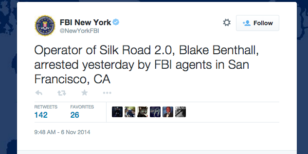 "FBI arrests Blake ""Defcon"" Benthall, alleged operator of Silk Road 2.0 [Updated]"
