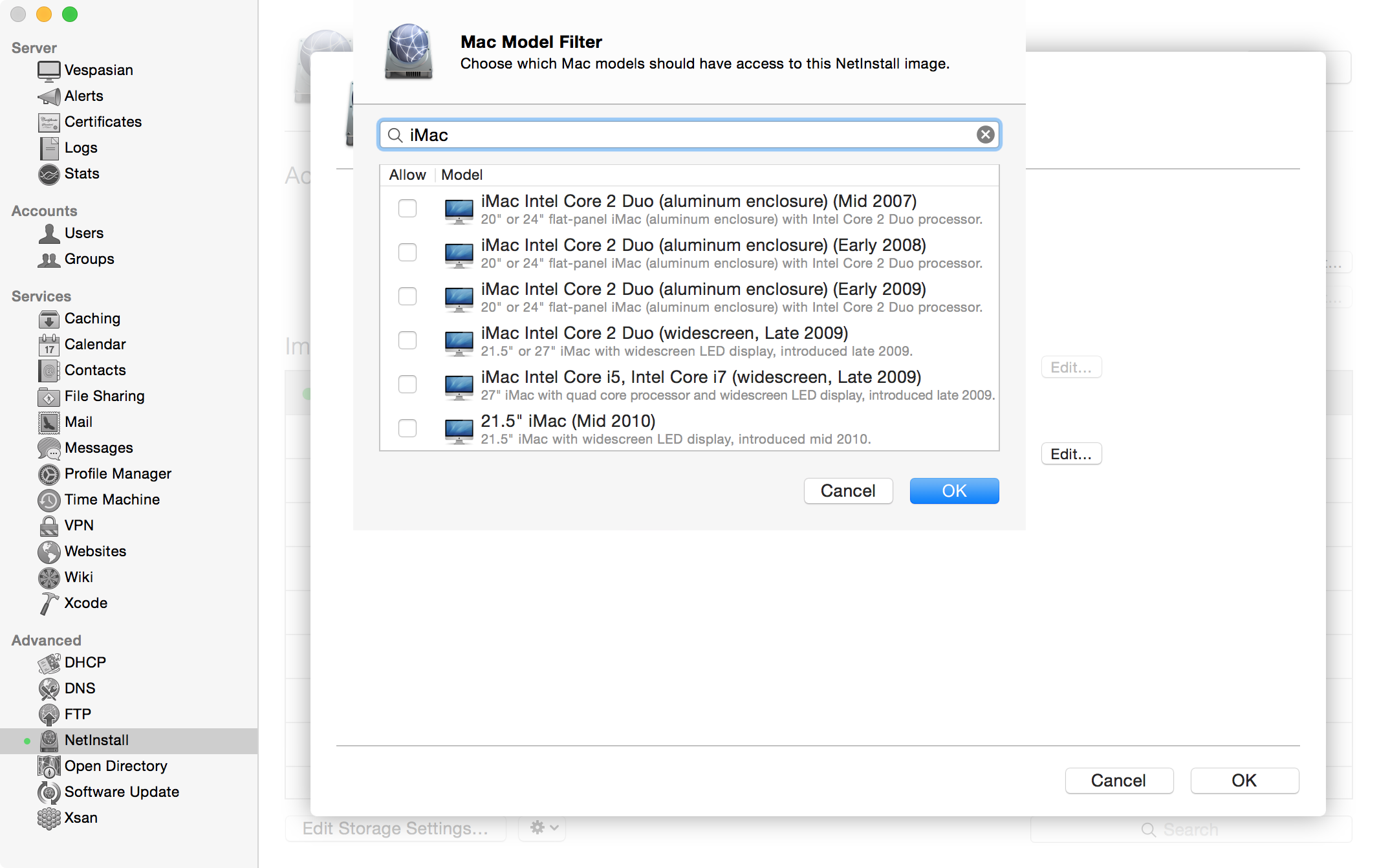The Mac Model Filter can keep your Macs from trying to boot OS X versions they don't support.
