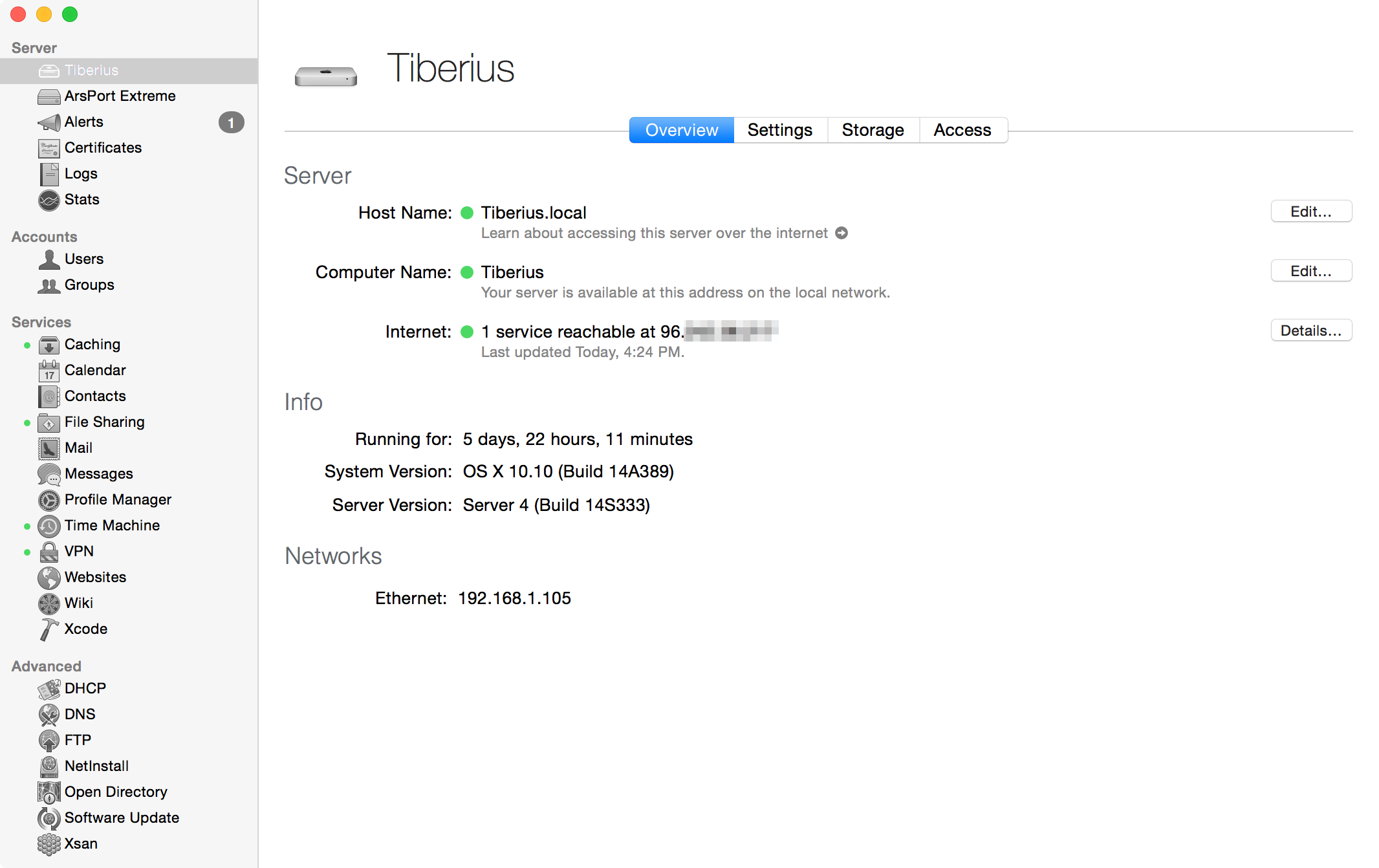 Server.app gets a Yosemite-style redesign and a few other features.