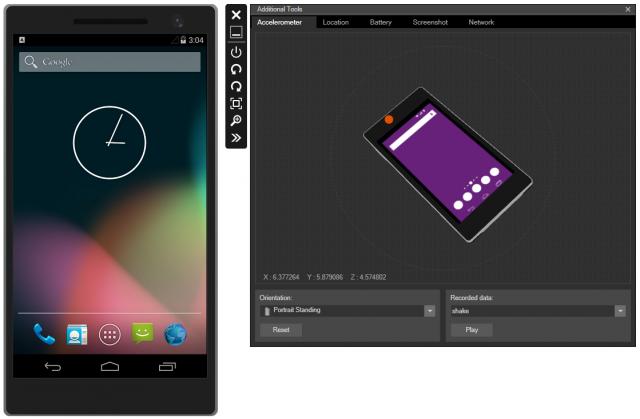 Microsoft's Android emulator.