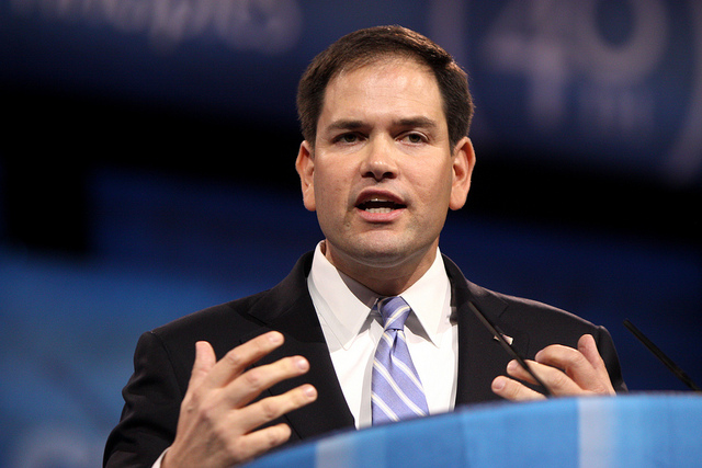 Sen. Marco Rubio (R-FL) in 2013. Rubio was first to speak against the USA Freedom Act in today's debate, saying it could slow the government from disrupting an ISIL cell.