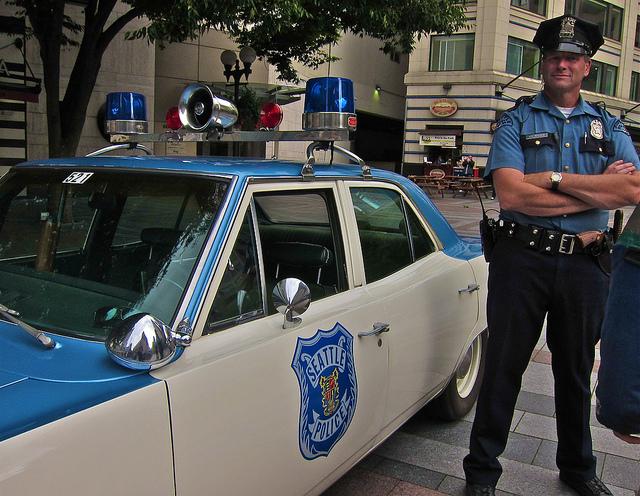 Retro Seattle police car.
