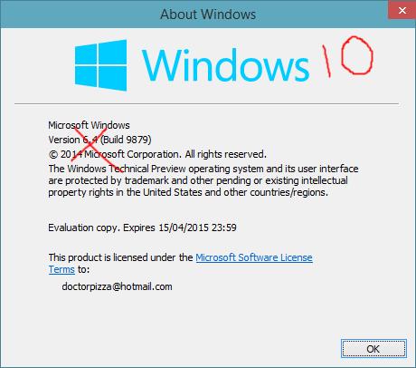 microsoft windows 10 all versions