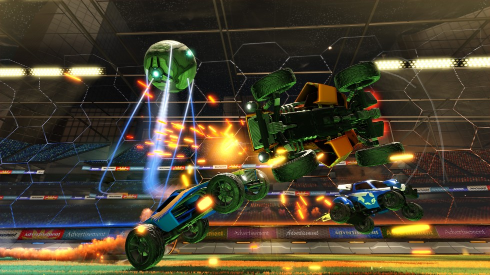 <em>Rocket League</em>, coming to PlayStation 4 and PC next week.