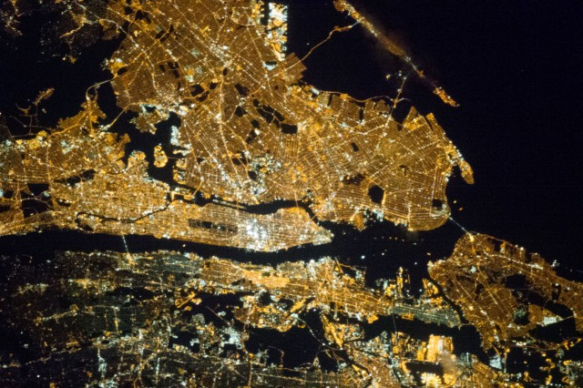 City lights viewed from space show cultural, tech differences