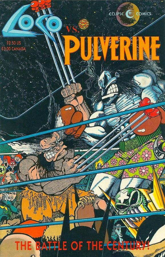 Presented in Loco vs, Pulverine, 1992. Written by Fred Schiller and Steve Donnelly. Art by Gary Yap.