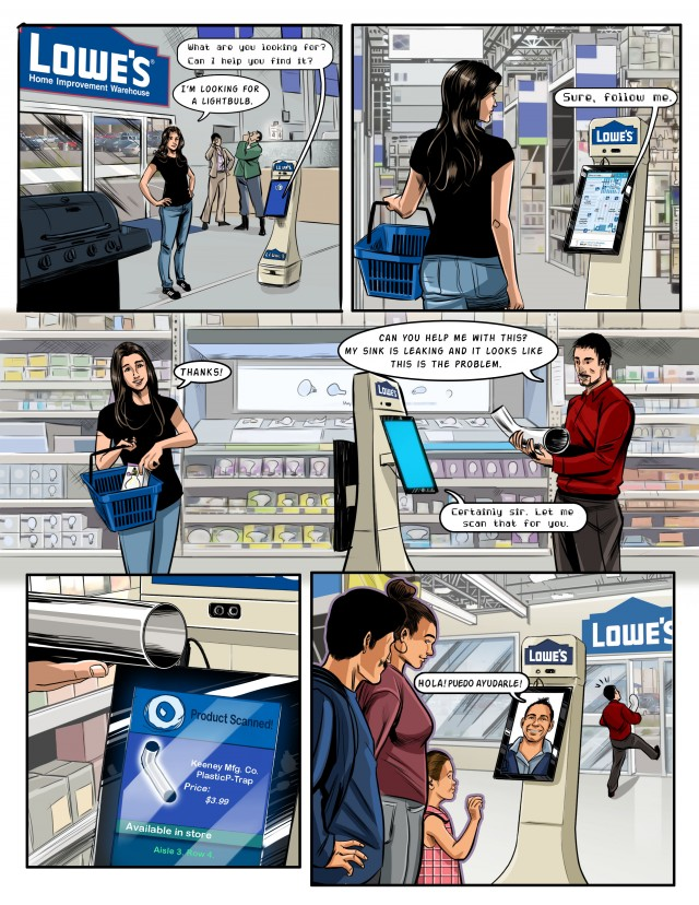 Here's how Lowe's originally conceived of its in-store robot.