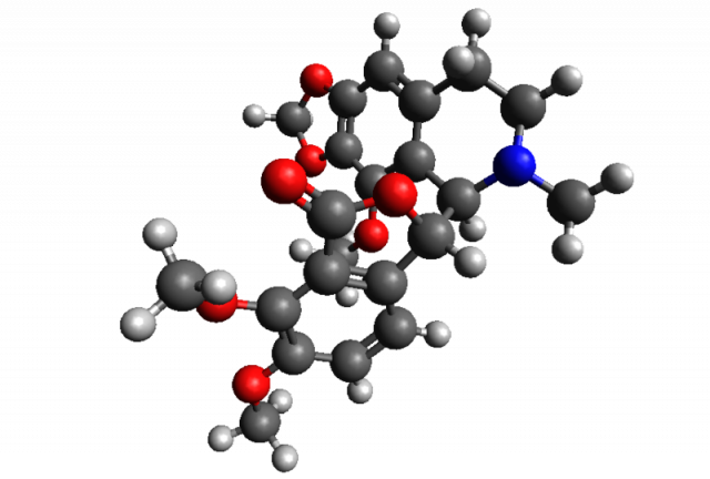 Noscapine, the final product in question, is a rather complex molecule.