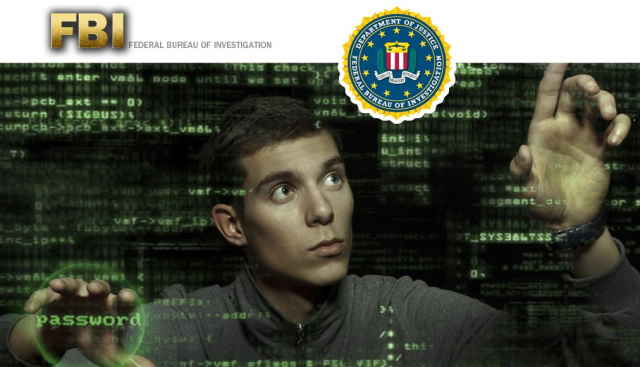 This is the graphic on the FBI's cyber careers page, where fresh-faced young men apparently reenact <em>Minority Report</em>.