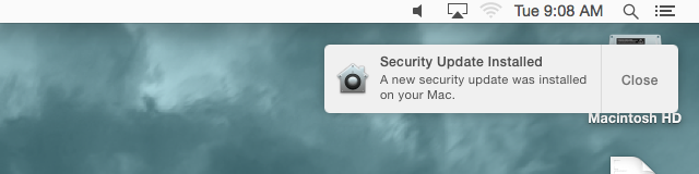 If you saw this message on your Mac when you woke it up this morning, you're already protected from the NTP flaw.