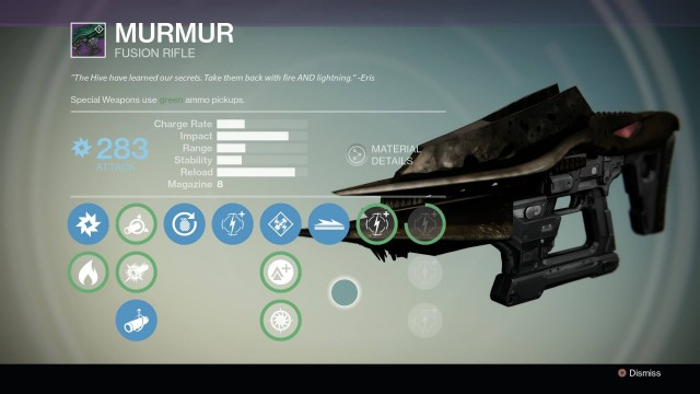 The Murmur is pretty sweet and likely to be your first new weapon.