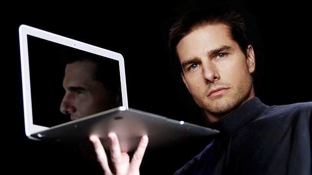 Something you probably won't be seeing: Aaron Sorkin's vision of Tom Cruise as Steve Jobs.