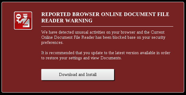 Fake browser warning your uncle might fall for delivers malicious trojan