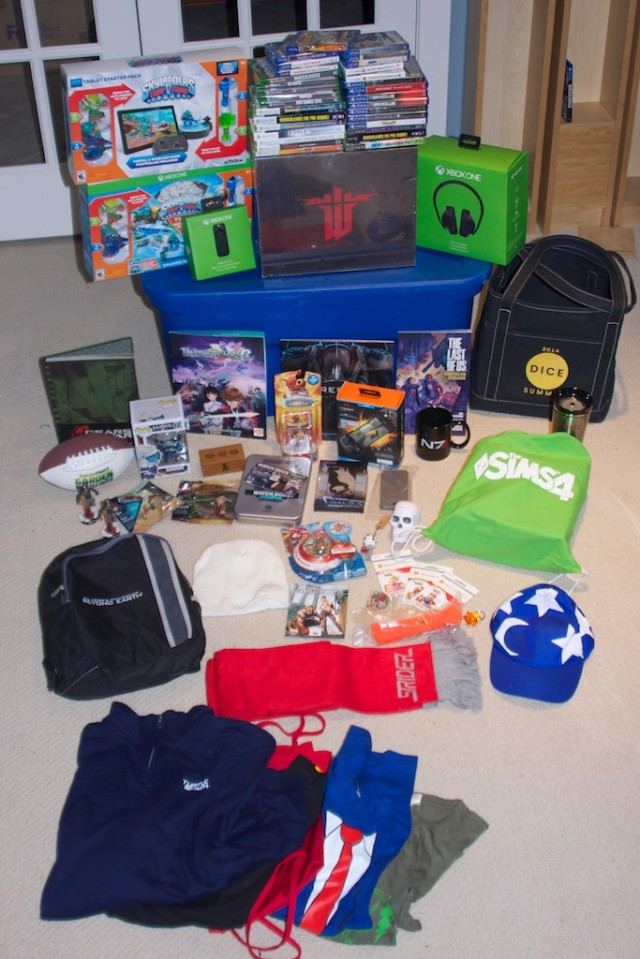 Just some of the prizes you can win in this year's charity contest!