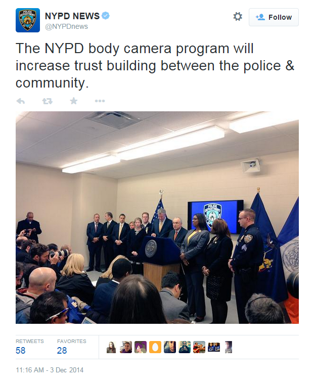 Body cameras alone will not build the trust you seek, NYPD.