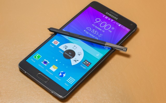 This is the regular Galaxy Note 4, but the LTE-A version will look just like it.