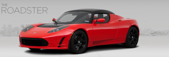 Tesla's no-longer-in-production Roadster, precursor to the Model S.