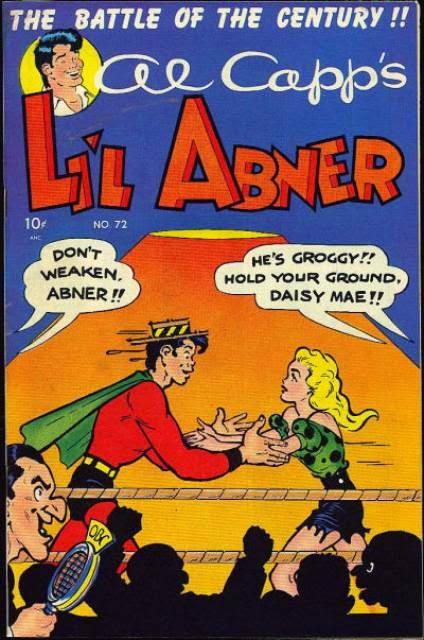 Next up, a fight first presented in Al Capp's Li'l Abner #72, 1949.
