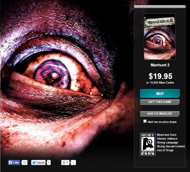 It may be hard to find the unedited, AO-rated version of <i>Manhunt 2</i>, but it is still available on GamersGate.