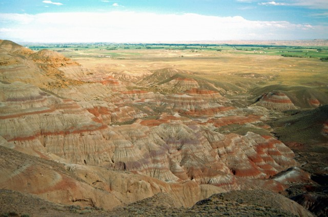 These Wyoming rocks were laid down around the time of the Paleocene-Eocene Thermal Maximum.