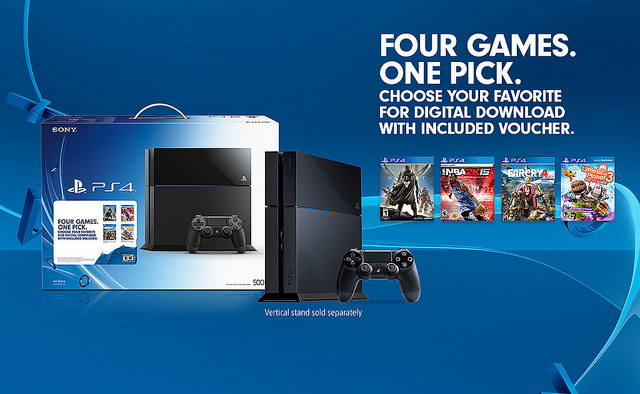 PSA: $400 PS4 now officially comes with one of four free games
