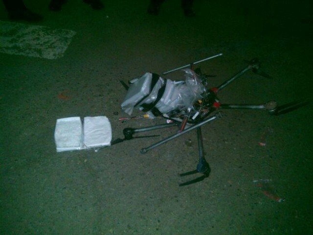Mexican police find drug-laden drone crashed near border-area supermarket