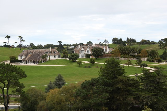 This is the Dotcom mansion, just outside Auckland.