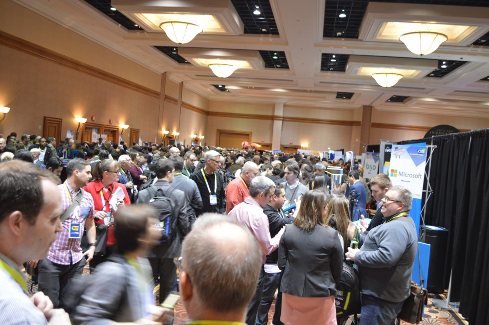 The throngs at CES Unveiled.