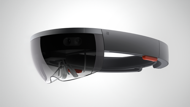 The HoloLens headset.