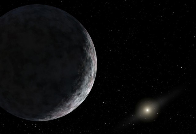 "Artist's impression of ""Planet X"", an unknown super-Earth far beyond Pluto's orbit."