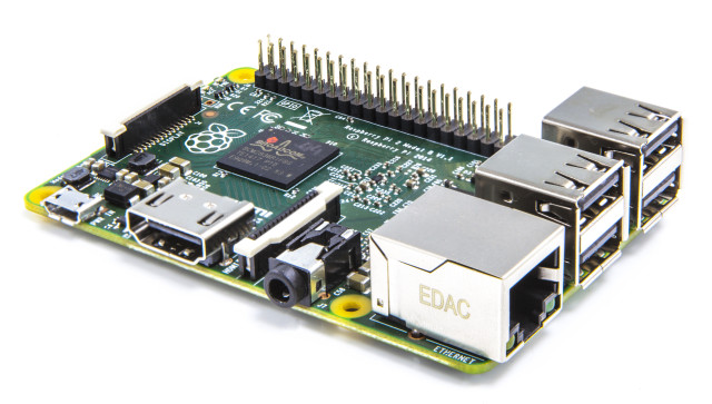 The Raspberry Pi 2 Model B.