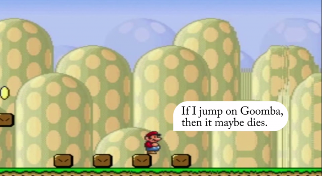 A life lesson that Mario learned all by himself.