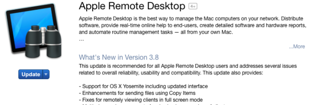 Apple Remote Desktop admin tool is updated for the first