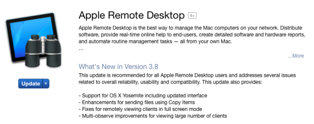 Apple Remote Desktop admin tool is updated for the first time in forever