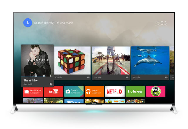Look, ma, no Chromecast or Nexus Player! Android TV comes pre-baked into this new Sony 4K TV.