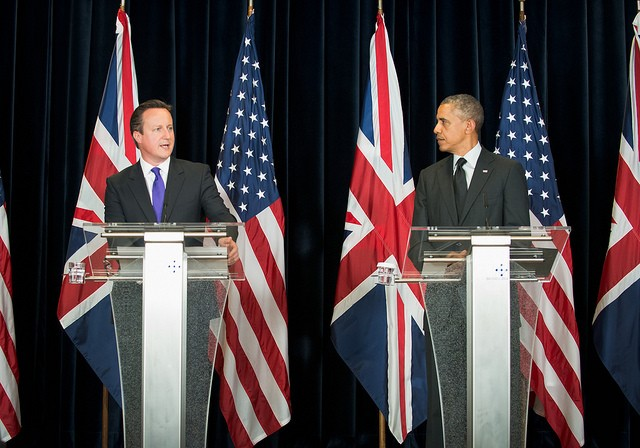 British Prime Minister David Cameron and US President Barack Obama at the G7 Summit in Brussels in June.