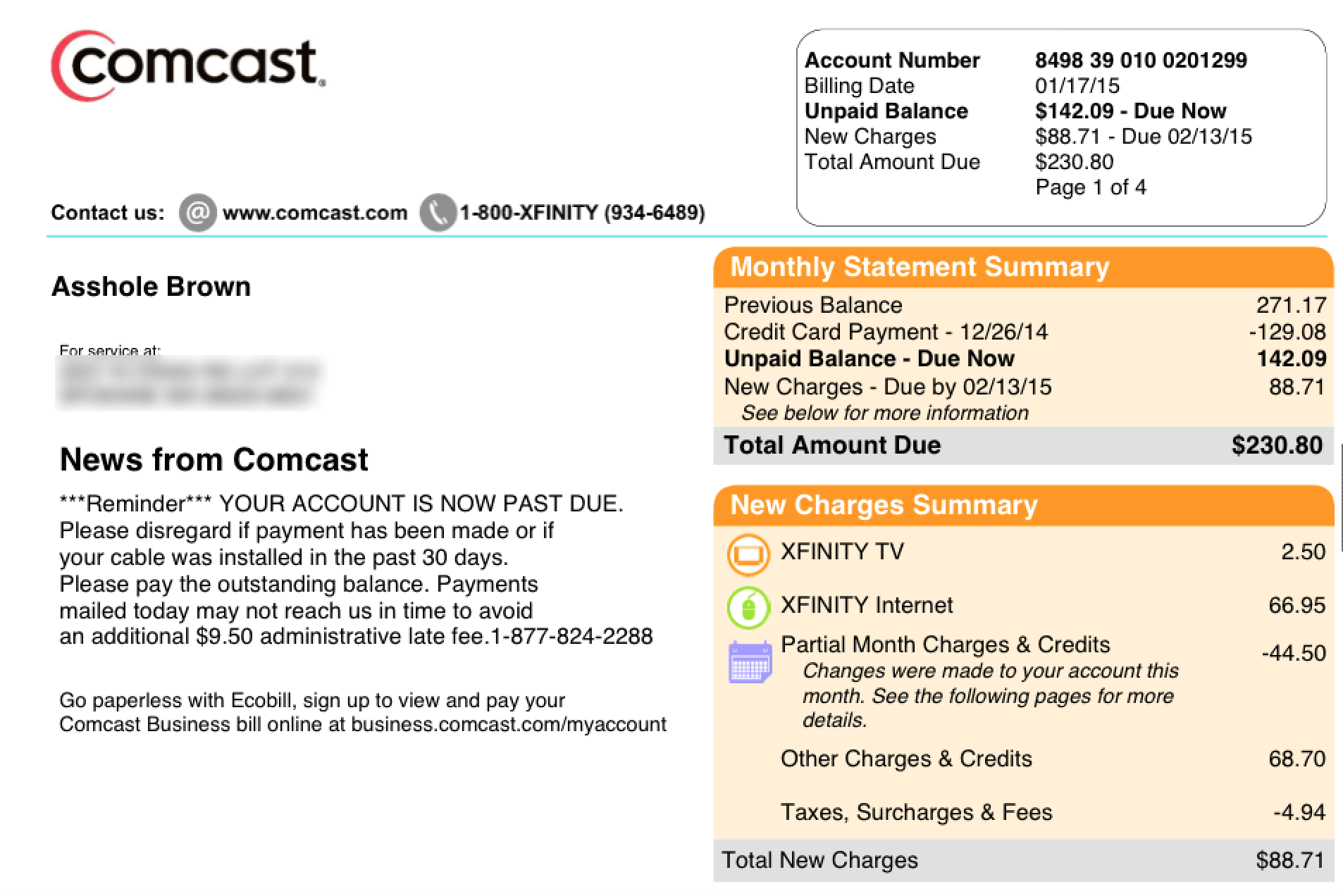 "How Comcast stopped employees from changing your name to ""A**hole"
