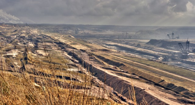 A coal mine just outside Grevenbroich, Germany.