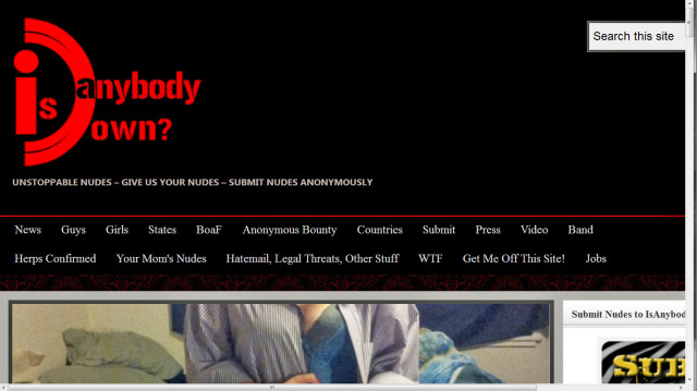 The front page of IsAnybodyDown from 2012.