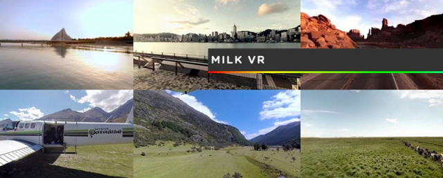 This promotional image shows some of the locations you can be taken to through Milk VR. Unfortunately, they'll look quite a bit muddier when you fire them up.