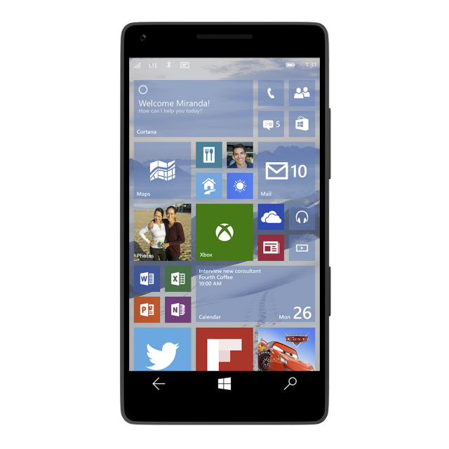 Our First Look At Windows 10 On Phones And Universal S For Touchscreens