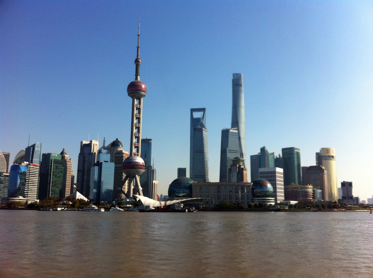 A better view of Shanghai's business district.