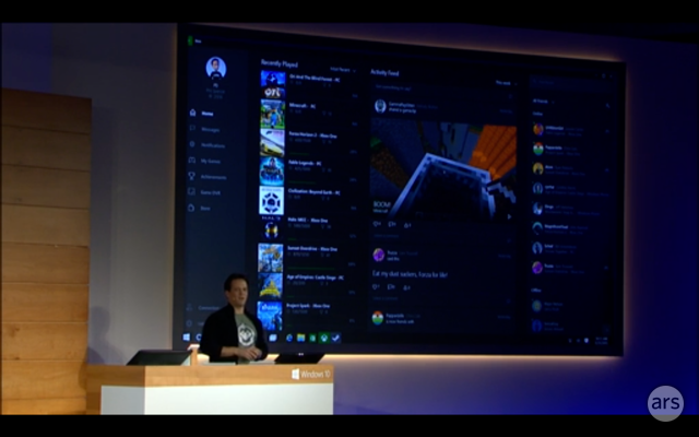 Windows 10 includes in-home game streaming from Xbox One