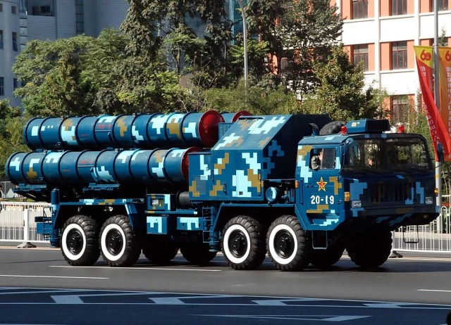 The Chinese version of the mobile launcher for the HQ-9 long-range ground-to-air missile. Turkey is looking to jointly build its own long-range air defense system based on the HQ-9 with Chinese help—but NATO won't let it be integrated with joint networks.